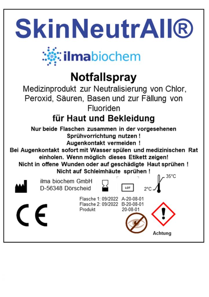 Notfallspray Chemieunfall